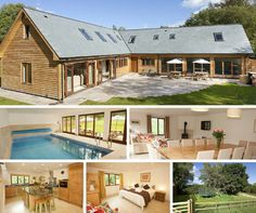 Take a Look at This! Flossy Brook - Somerset, Self catering holiday lodge with integral indoor swimming pool Sleeps up to 14. Prices from £21 pppn, Amazing Value.. #cottage #Somerset #sleeps12 #luxuryholidaylodge www.sleeps12.com