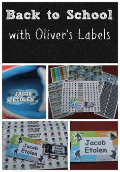 Head Back to School with Oliver's Labels Review & Giveaway (Open to US/CAN; ends Sept. 5, 2014)