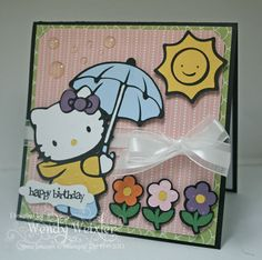 WMW Rainy Day Kitty by Wendybell - Cards and Paper Crafts at Splitcoaststampers