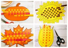 These Paper Weaving Fall Printables are perfect to strengthen and keep those little fingers busy this season! Also helps to improve concentration and hand-eye coordination in little kids. Diy Arts And Crafts, Fall Crafts, Crafts For Kids, Diy Paper, Paper Crafts, Weaving For Kids, Origami, Paper Weaving, Paper Embroidery