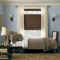 Roman Shades With Top Down Bottom Up Feature Provide Privacy And View Options Office