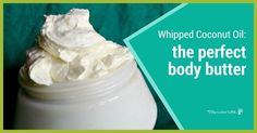 If you have never tried whipped coconut oil for a body butter recipe, it's time to take the plunge! Get ready to fall in love with coconut oil all over...
