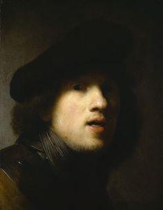 Self-Portrait, Rembrandt van Rijn, about 1629.
