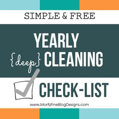 simple yearly cleaning list