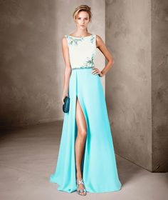 44 Astonishing And Vibrant Cocktail Dress Collection launched by Pronovias A Line Prom Dresses, Ball Dresses, Ball Gowns, Elegant Dresses, Pretty Dresses, Formal Dresses, Bridal Dresses Online, Vestido Casual, Elegant Woman