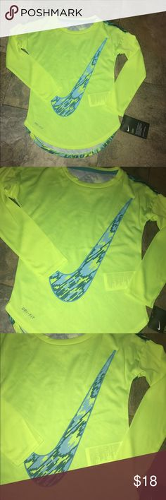 Nike girls dry fit shirt nwt Nike girls dry fit long sleeve shirt new with tags Nike Shirts & Tops Tees - Long Sleeve