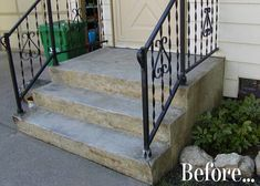 concrete front proch makeover | The $5 Front Porch Makeover Before & After | Apartment Therapy