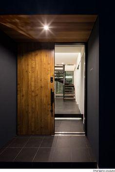 Japanese Style House, Entrance, Garage Doors, Exterior, House Design, Outdoor Decor, Home Decor, Hall Way Decor, House Beautiful