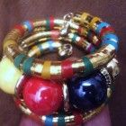 Bright and Beautiful wrap bauble Cuff bracelet