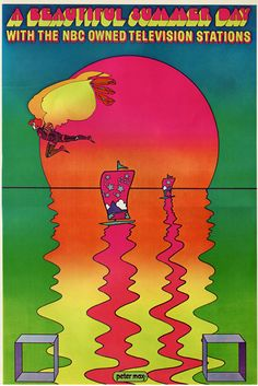 A Beautiful Summer Day with the NBC Owned Television Stations  Peter Max  1970