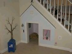 Such a good.idea for under a staircase!