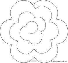 Discover thousands of images about Rolled Flower - style 2 Pattern to cut a rolled flower for felt flowers Gerollte Blume – Stil 2 – Márcia Regina Moura Zanin – Join the world of pin The Craft Chop shares SVG files, digital papers, tutorials and re Paper Flowers Wedding, Paper Flowers Diy, Handmade Flowers, Flower Crafts, Fabric Flowers, Rolled Paper Flowers, Felt Flower Diy, Wedding Bouquets, Craft Flowers