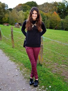 Derby Shoes #outfit #look #bordeaux #Autumn