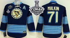 Penguins #71 Evgeni Malkin 2011 Winter Classic Vintage Dark Blue 2016 Stanley Cup Final Patch Stitched Youth NHL Jersey