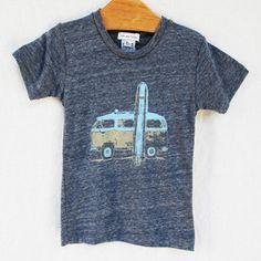Surfbus Heathered T-Shirt - milk and honey baby