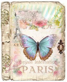 Vintage Butterflys Fabric Block. $4.99, via Etsy.