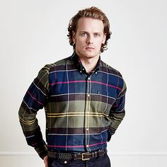 Sam Heughan for 'Barbour Shirt Department'