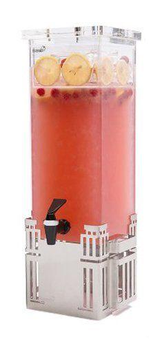 Rosseto LD113 Stainless Steel Base Rectangle Beverage Dispenser, 2-Gallon Rosseto #juicebar #punchbowl #party
