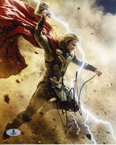 Chris Hemsworth Thor Signed 8x10 Photo Certified Authentic Beckett BAS COA
