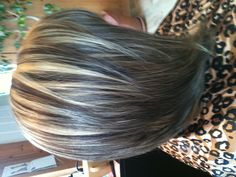 Inverted bob with highlights and lowlights, I wonder if my man would be mad? :) He loves long hair
