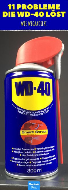 11 Probleme, die du mit WD-40-Spray einfach so wegradierst. Wd 40 Spray, Cleaning Hacks, Hacks Diy, Home Projects, Trix, Life Hacks, Diy Crafts, Tools, Organisation