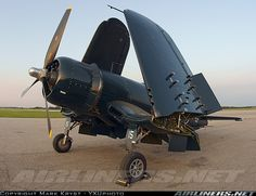 Vought (Goodyear) FG-1D Corsair Arrived at sunset from 2009 Oshkosh AirVenture [OSH] and spent the night in London before going home the next day.