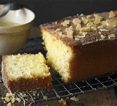 Lime and Ginger Drizzle Cake. The combination of lime and ginger gives the classic drizzle cake a modern twist recipe Pear Recipes, Cake Recipes, Sweet Recipes, Dessert Recipes, Lemon Drizzle Cake, Lime Cake, Cake Mixture, Bbc Good Food Recipes, Bbc Recipes