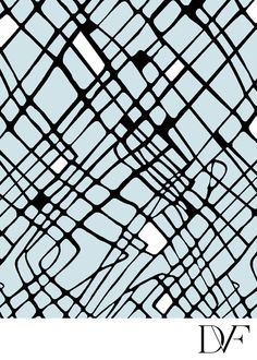Diane Von Furstenburg | Cable Squares Blue Combo fabric