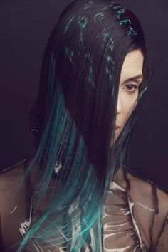 Variant Colored Highlighted Long Hairstyle