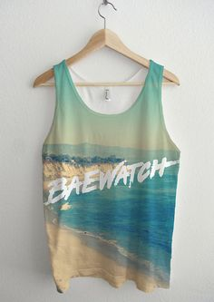 2df03657a2f Baewatch Beach Sublimation Unisex Tank Top by AvaWilde on Etsy Printed Tank  Tops, Print Tank