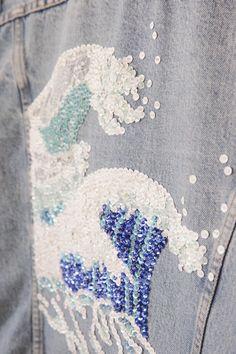 DIY sequin embellished denim...