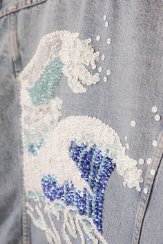 DIY sequin embellished denim...