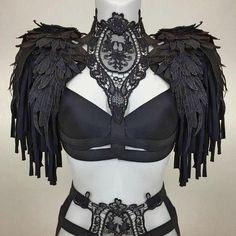 New arrivals boudoir lingerie harness tops cage bras gothic couture accessories Buy Costumes, Dance Costumes, Estilo Tribal, Gothic Lingerie, Grandeur Nature, Burning Man Outfits, Couture Accessories, Festival Wear, Black Laces