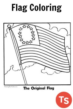 united states of america flag coloring page drawing coloring