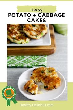 Crispy colcannon cakes – made from mashed potatoes, cabbage and cheddar cheese – will be your new favorite side dish! They're perfect for St. Patrick's Day! Healthy Snacks, Healthy Eating, Healthy Recipes, Yummy Food, Delicious Meals, Original Recipe, Clean Eating Recipes, Cheddar Cheese, St Patrick