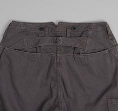 FREEWHEELERS: Conductor Overalls, Dark Grey Chino Cloth