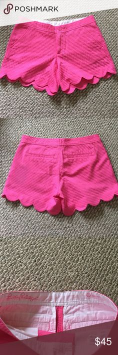 Pink lilly Pulitzer butter cup shorts NWT pink butter cup shorts Lilly Pulitzer Shorts
