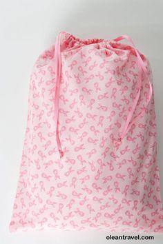 Pink Ribbon Lingerie Bag, Travel Bag - http://oleantravel.com/pink-ribbon-lingerie-bag-travel-bag