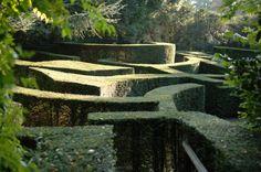 """Labyrinth Maze:  """"The #Labyrinth,"""" Van Buuren Museum garden, Brussels."""