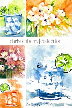 New art release at Christenberry Collection June 3rd! Bright and bold summery Laura Trevey watercolors for your home.