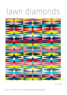 lawn diamonds quilt pattern PDF von sarahschrawdesigns auf Etsy