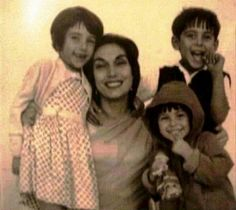 Nusrat Bhutto with Future Premier Benazir Bhutto
