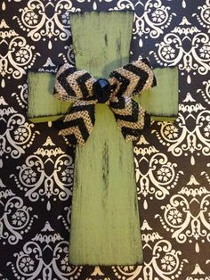 Sage and Black Wooden Cross