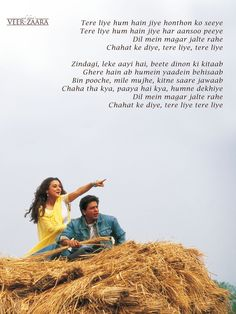 Orginal Poster from the movie, Veer Zaara Shyari Quotes, Song Lyric Quotes, Love Songs Lyrics, Music Quotes, Life Quotes, Bollywood Posters, Bollywood Songs, Song Captions, Love Quotes Poetry