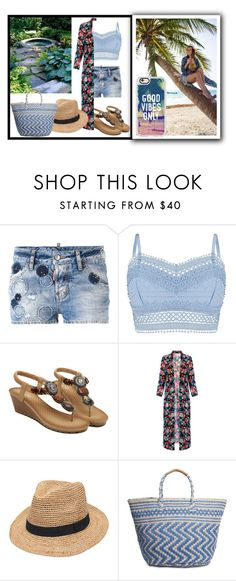 """""""Beach Love :)"""" by grateful-angel ❤ liked on Polyvore featuring Dsquared2, Lipsy, Gottex, Lucky Brand and Casetify"""