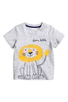 Camiseta con motivo estampado - Gris claro/León - NIÑOS | H&M ES 1