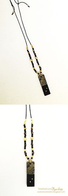 Collar Jaisalmer Negro y Oro