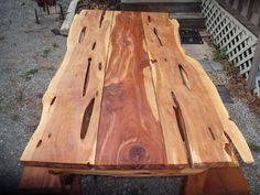 Live Edge Cedar Dining - In Or Outdoor Picnic Table