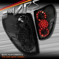 Smoked Black LED Tail lights for Mitsubishi Triton 06-14 | Mars Performance