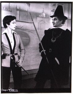 Vivien Leigh and Laurence Olivier on stage in Twelfth Night at Stratford, 1955, gelatin silver print